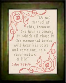Resurrection of Life - John 5:28-29 | Crafting | Cross-Stitch | Religious