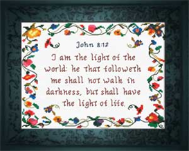 Light of the World Chart | Crafting | Cross-Stitch | Religious