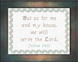 As For Me and My House - Chart | Crafting | Cross-Stitch | Religious