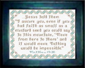 Nothing Impossible - Matthew 17:20 | Crafting | Cross-Stitch | Religious
