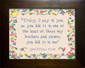 Least of These | Crafting | Cross-Stitch | Religious