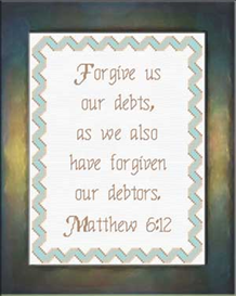 Forgive Us Our Debts | Crafting | Cross-Stitch | Religious
