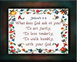 Justly Tenderly  Humbly | Crafting | Cross-Stitch | Other