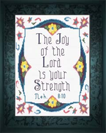 Joy of The Lord - Nehemiah 8:10 - Chart | Crafting | Cross-Stitch | Religious