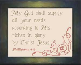 God Shall Supply | Crafting | Cross-Stitch | Religious