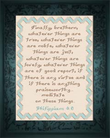 Whatever is Good - Philippians 4:8 - Chart | Crafting | Cross-Stitch | Religious