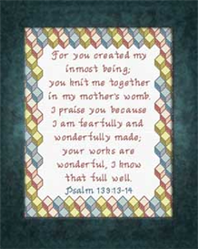 Fearfully and Wonderfully Chart | Crafting | Cross-Stitch | Religious