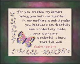 Wonderfully Made | Crafting | Cross-Stitch | Religious