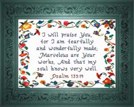 Marvelous are Your Works | Crafting | Cross-Stitch | Religious