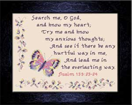 Search Me Oh God | Crafting | Cross-Stitch | Religious