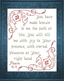Joy in Your Presence - Psalm 16:11 - Chart | Crafting | Cross-Stitch | Other