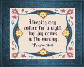Joy in the Morning - Psalm 30:5b | Crafting | Cross-Stitch | Religious
