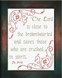 Brokenhearted Chart | Crafting | Cross-Stitch | Religious