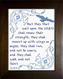 Mount Up With Wings - Isaiah 40:31 | Crafting | Cross-Stitch | Other