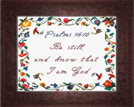 Be Still - Psalm 46:10 | Crafting | Cross-Stitch | Religious