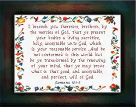 Living Sacrifice | Crafting | Cross-Stitch | Religious
