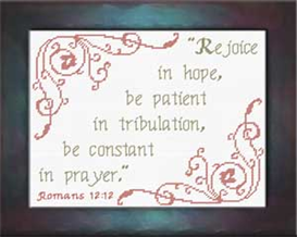 Rejoice in Hope | Crafting | Cross-Stitch | Religious