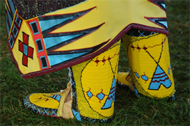 woman's beaded moccassin