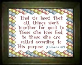 And We Know - Romans 8:28 | Crafting | Cross-Stitch | Religious