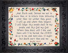 Wither Thou Goest | Crafting | Cross-Stitch | Religious
