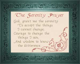The Serenity Prayer | Crafting | Cross-Stitch | Miscellaneous