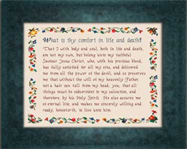 Heidelberg Catechism Chart | Crafting | Cross-Stitch | Religious