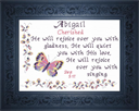 Name Blessing - Abigail 3 | Crafting | Cross-Stitch | Religious