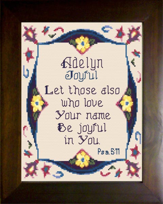 First Additional product image for - Name Blessing - Adelyn