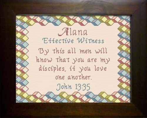 First Additional product image for - Name Blessings - Alana