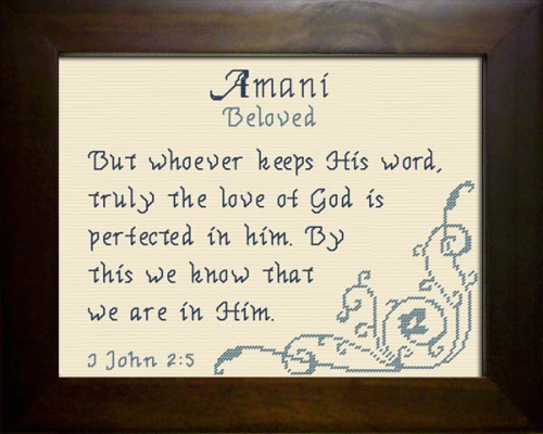 First Additional product image for - Name Blessing - Amani