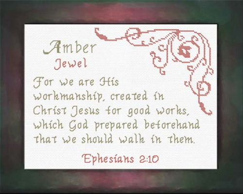 First Additional product image for - Name Blessings - Amber