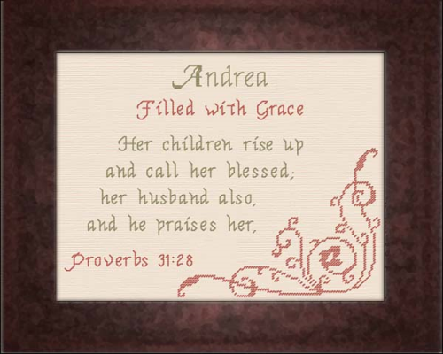 First Additional product image for - Name Blessings - Andrea