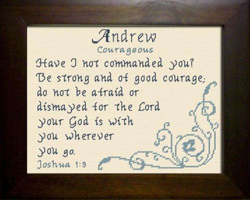First Additional product image for - Name Blessing - Andrew 3
