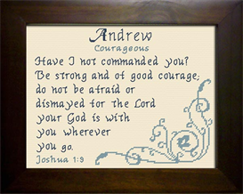 Name Blessing - Andrew 3 | Crafting | Cross-Stitch | Religious