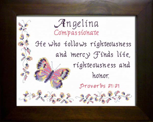 First Additional product image for - Name Blessing - Angelina