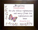 Name Blessing - Angelina | Crafting | Cross-Stitch | Religious