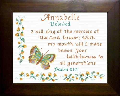 First Additional product image for - Name Blessings - Annabelle