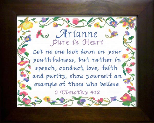 First Additional product image for - Name Blessing - Arianne