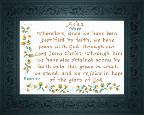 First Additional product image for - Name Blessing - Asha