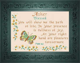 Name Blessing - Asher | Crafting | Cross-Stitch | Religious