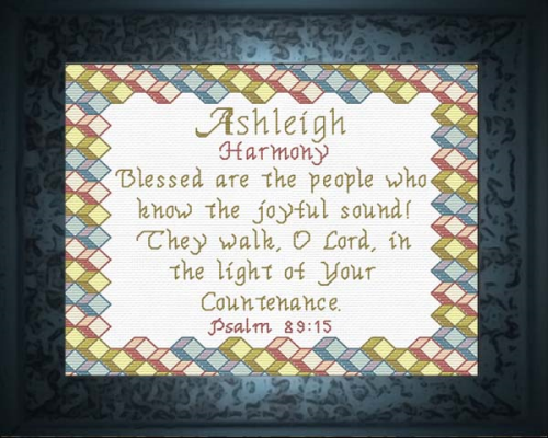 First Additional product image for - Name Blessings - Ashleigh