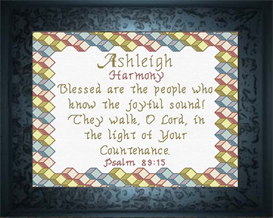Name Blessings - Ashleigh | Crafting | Cross-Stitch | Other
