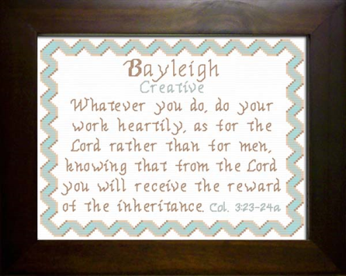 First Additional product image for - Name Blessing - Bayleigh