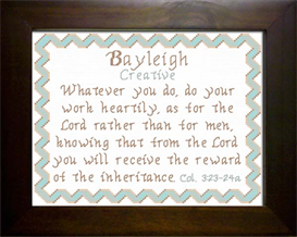 Name Blessing - Bayleigh | Crafting | Cross-Stitch | Religious