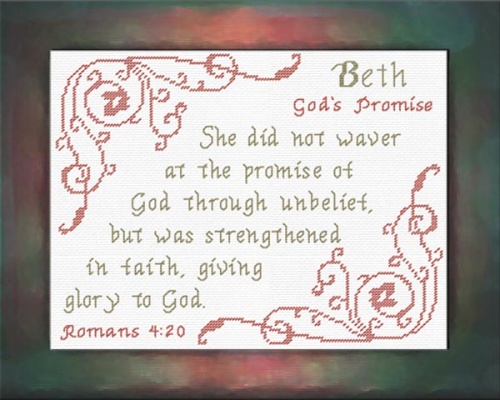 First Additional product image for - Name Blessings - Beth