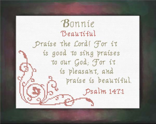First Additional product image for - Name Blessings - Bonnie