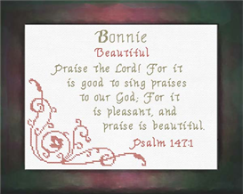 Name Blessings - Bonnie | Crafting | Cross-Stitch | Religious