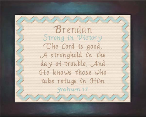 First Additional product image for - Name Blessings - Brendan