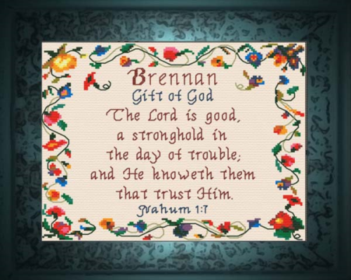 First Additional product image for - Name Blessings - Brennan