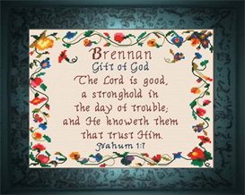 Name Blessings - Brennan | Crafting | Cross-Stitch | Other